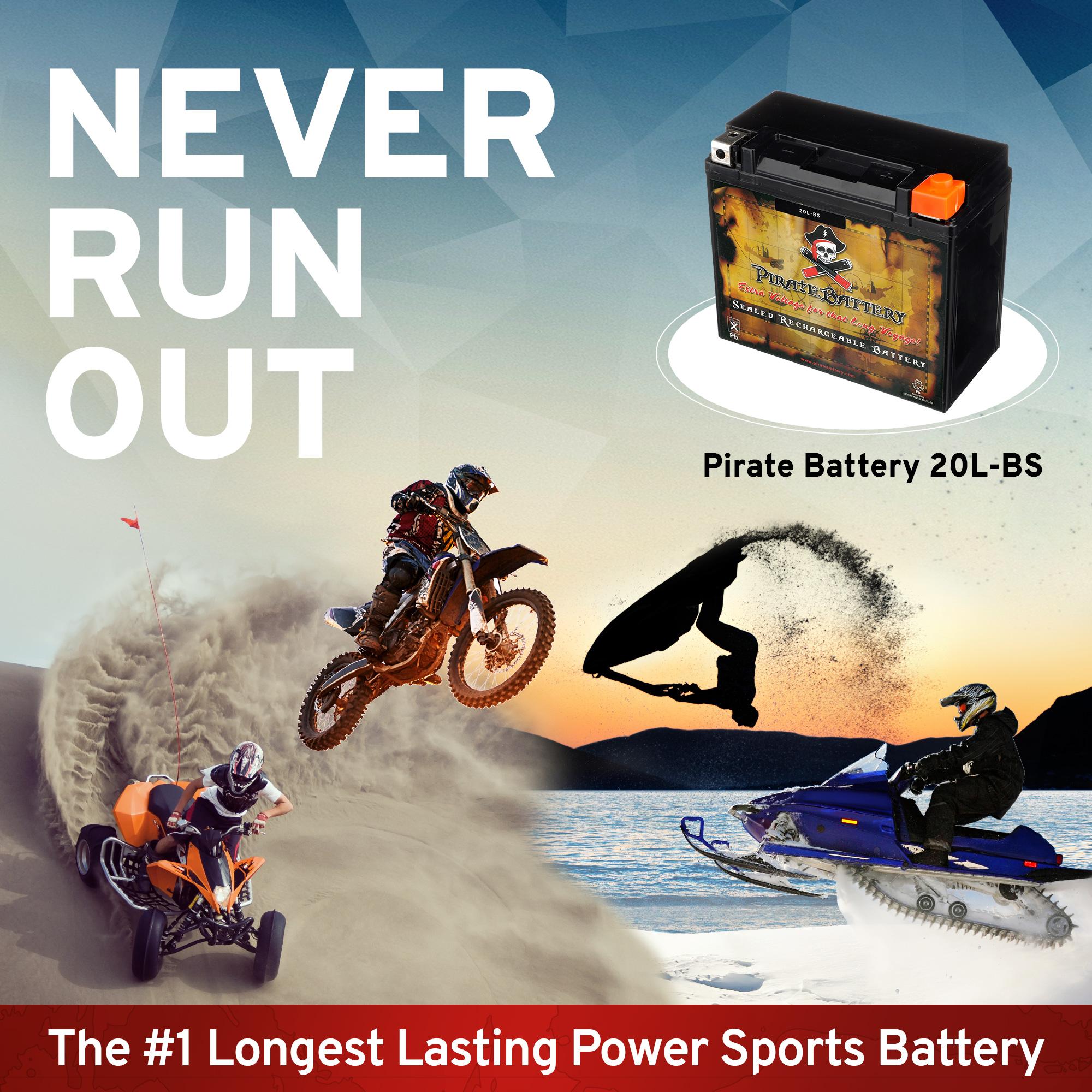 thumbnail 6 - YTX20L-BS Jet Ski PWC AGM Battery for Honda, Sea-Doo, Kawasaki, Polaris, Yamaha